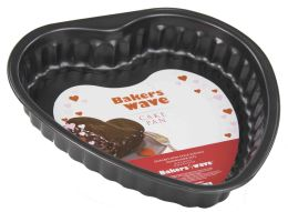 24 Units of Home Basics Heart-Shaped Cake Pan - Baking Supplies