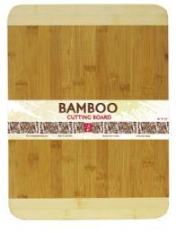 12 Units of Home Basics Large Dual Tone Bamboo Cutting Board, Natural - Cutting Boards