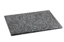 "4 Units of Home Basics 12"" x 16"" Granite Cutting Board, Black - Cutting Boards"