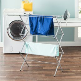 4 Units of Sunbeam 3 Tier RusT-Proof Enamel Coated Steel Collapsible Clothes Drying Rack, Grey - Laundry  Supplies