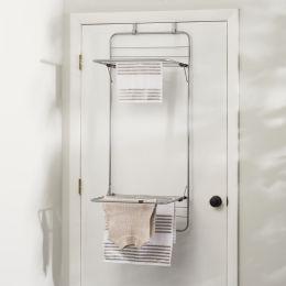 6 Units of Sunbeam Steel Over The Door Towel Dryer Rack, Grey - Laundry  Supplies