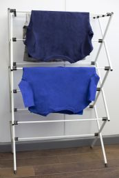 4 Units of Home Basics RusT-Proof Collapsible Clothes Drying Rack, Grey - Laundry  Supplies