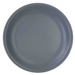"12 Units of Home Basics 10.5"" Ceramic Dinner Plate, Slate Grey - Coffee Mugs"