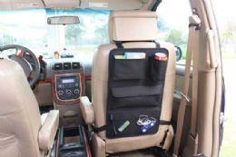 6 Units of Home Basics Back Seat Car Organizer, Black - Travel & Luggage Items