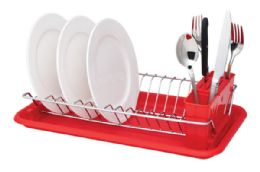 12 Units of Home Basics Compact Dish Drainer - Dish Drying Racks