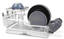 6 Units of Home Basics 2-Tier Aluminum Dish Rack - Dish Drying Racks