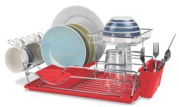 6 Units of Home Basics 2-Tier Dish Drainer - Dish Drying Racks