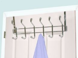 12 Units of Home Basics Chrome Plated Steel Over the Door 6-Hook Hanging Rack - Hooks