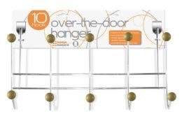 24 Units of Home Basics 5 Wooden Dual Hook Over the Door Steel Organizing Rack - Hooks