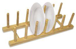 12 Units of Home Basics Foldable Bamboo Dish Rack - Dish Drying Racks
