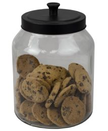 4 Units of Home Basics Artisan 3 Lt Glass Jar with Black Top - Glassware