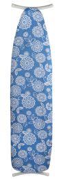 "12 Units of Sunbeam Coastal Floral 15"" x 54"" Cotton Ironing Board Cover, Aqua - Laundry  Supplies"