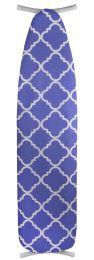 """12 Units of Sunbeam Lovely Lattice  15"""" x 54"""" Cotton Ironing Board Cover, Blue - Laundry  Supplies"""