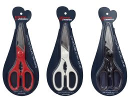 """48 Units of Home Basics 8"""" Multi-Function Stainless Steel Kitchen Shears - Kitchen Tools & Gadgets"""