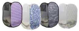 12 Units of Home Basics Collapsible Printed Mesh PoP-Up Hamper - Laundry Baskets & Hampers