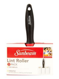 24 Units of Sunbeam Lint Roller, (Pack of 3), Black - Laundry  Supplies
