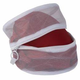 24 Units of Sunbeam Micro Mesh Wash Bag, White - Laundry Baskets & Hampers