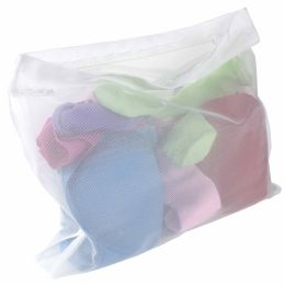 24 Units of Sunbeam Intimates Micro Mesh Wash Bag, White - Laundry Baskets & Hampers