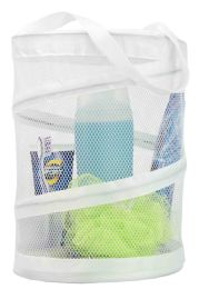12 Units of Sunbeam White Mesh Barrel Caddy - Laundry Baskets & Hampers