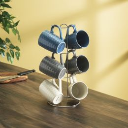 6 Units of Home Basics 11 Oz. 6-Piece Diamond Mug Set - Coffee Mugs