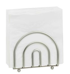 24 Units of Home Basics Satin Nickel Napkin Holder - Napkin and Paper Towel Holders