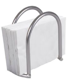 12 Units of Home Basics Simplicity Collection Napkin Holder, Satin Nickel - Napkin and Paper Towel Holders