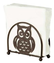 12 Units of Home Basics Owl Napkin Holder, Bronze - Napkin and Paper Towel Holders
