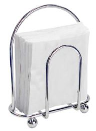 12 Units of Home Basics Chrome Napkin Holder - Napkin and Paper Towel Holders