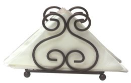 12 Units of Home Basics Scroll Collection Steel Napkin Holder, Bronze - Napkin and Paper Towel Holders