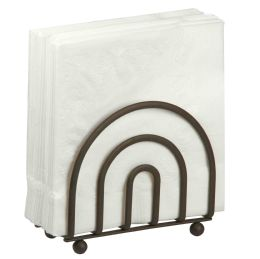 12 Units of Home Basics Wire Collection Napkin Holder, Bronze - Napkin and Paper Towel Holders