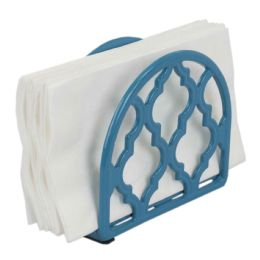 6 Units of Home Basics Lattice Collection Cast Iron Napkin Holder, Turquoise - Napkin and Paper Towel Holders