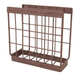 12 Units of Home Basics Amsterdam Collection Napkin Holder, Bronze - Napkin and Paper Towel Holders