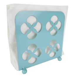 12 Units of Home Basics Turquoise Collection Trinity Napkin Holder, Turqouise - Napkin and Paper Towel Holders