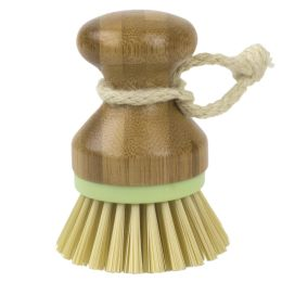 12 Units of Home Basics Bliss Collection Bamboo Dish Brush, Green - Cleaning Products