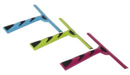 12 Units of Home Basics Brights Collection Plastic Squeegee - Cleaning Products