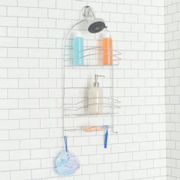 6 Units of Home Basics Crescent Shower Caddy, Chrome - Shower Accessories