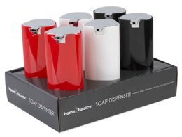 24 Units of Home Basics 20 oz. Stainless Steel Cylinder Soap Dispenser - Soap Dishes & Soap Dispensers