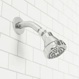12 Units of Sunbeam Oasis Single Function Fixed Shower Head, Chrome - Shower Accessories