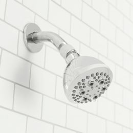 12 Units of Sunbeam Refresh High Pressure Full Coverage 5 Function Fixed Shower Head, Chrome - Shower Accessories