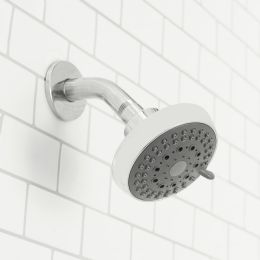 12 Units of Sunbeam Revitalize 5 Function Fixed Shower Head, Chrome - Shower Accessories