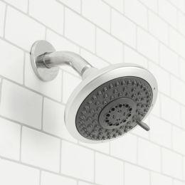 12 Units of Sunbeam Luxury Retreat Fixed 5 Function Shower Head, Chrome - Shower Accessories