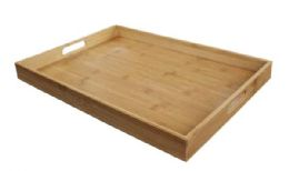 6 Units of Home Basics Bamboo Serving Tray - Serving Trays