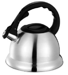 12 Units of Home Basics 3.0 Liter Brushed Stainless Steel Tea Kettle With Easy Grip Textured Handle, Silver - Drinking Water Bottle