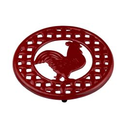 6 Units of Home Basics Cast Iron Rooster Trivet - Coasters & Trivets