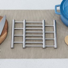 24 Units of Home Basics Expandable Stainless Steel Trivet, Silver - Coasters & Trivets