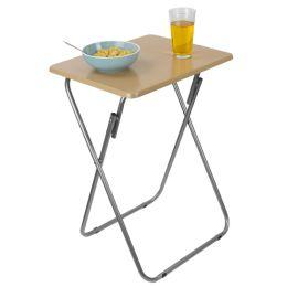 6 Units of Home Basics MultI-Purpose Foldable Table, Natural - Furniture