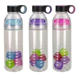 24 Units of Home Basics 24 oz. Sports Bottle with Cubes - Drinking Water Bottle