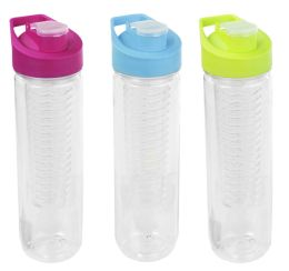 24 Units of Home Basics 24 Oz. Sports Bottle With Infuser - Drinking Water Bottle