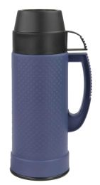 12 Units of Home Basics .75 Liter Plastic And Glass Insulated Travel Mug, Blue - Drinking Water Bottle