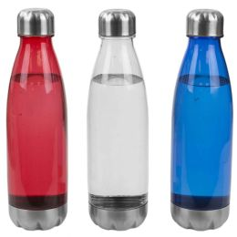 24 Units of Home Basics 16 Oz. Translucent Plastic Travel Bottle - Drinking Water Bottle